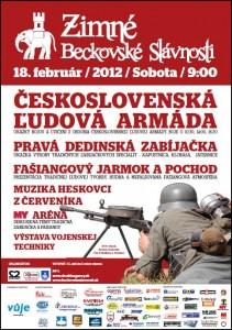 plagat Zimne Beckovske slavnosti 2012