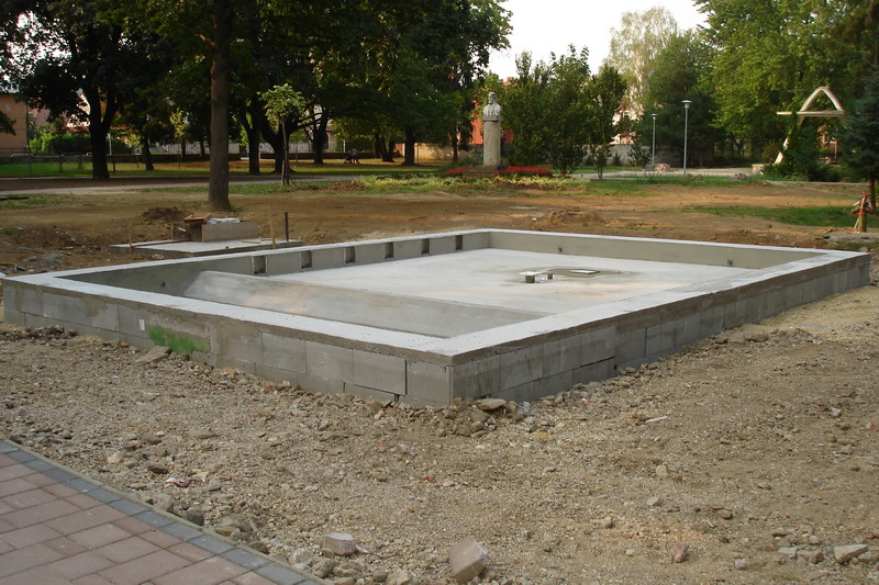 Fontána v parku Nové Mesto nad Váhom