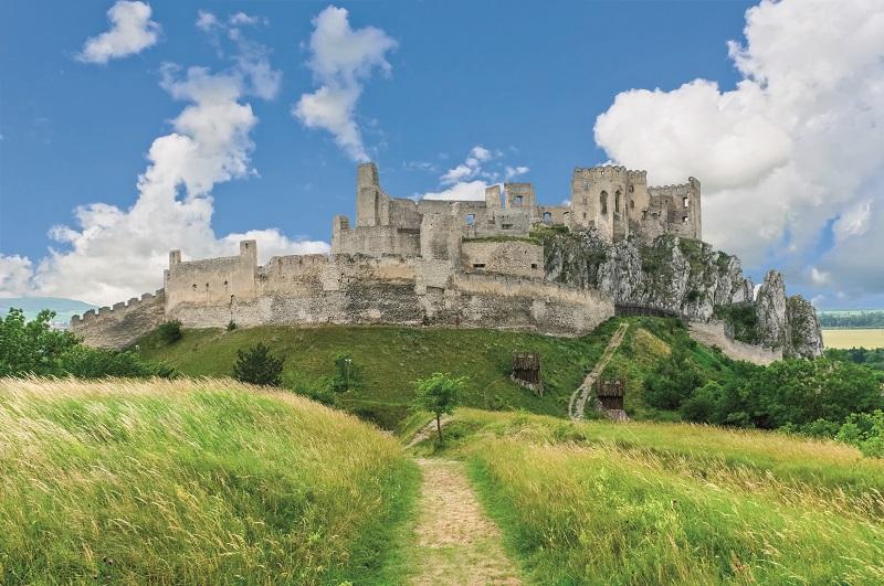 old castle Beckov in Slovakia
